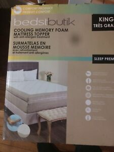 "4"" Memory Foam Cooling Bed Topper Hypoallergenic BNIB"