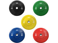 "NEW FXR SPORTS OLYMPIC 2"" COMMERCIAL RUBBER BUMPER WEIGHT PLATES GYM CROSSFIT"