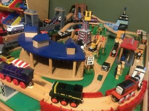 Train Table with Thomas Trains (Wooden Track)