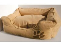 BRAND NEW TOP QUALITY DEEP CUSHION SNUGGLE PET CAT DOG BED IN SUEDE