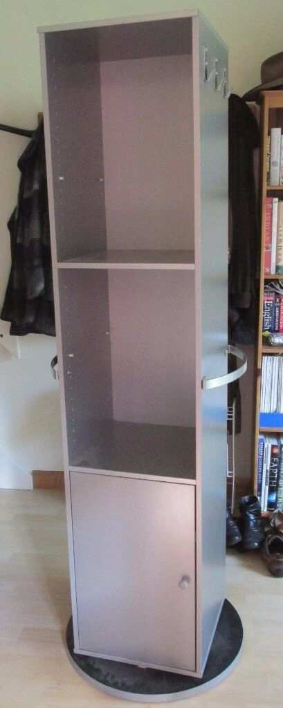 Used Ikea Rotating Storage Unit And Mirror
