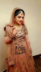 Bridal hairstyles, makeup  #indian #pakistani #punjabi #gujarati