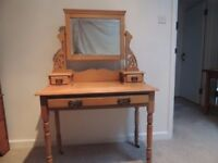 ANTIQUE PINE VICTORIAN DRESSING TABLE - SOLD!