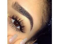 Eyelash and Eyebrow extensions semi-permanent