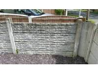 Garden concrete gravel boards and iron gate / fence