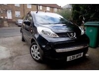 Peugeot 107 , 2011 , low mileage 46917 , 1 owner, 5 doors , automatic , £20 tax