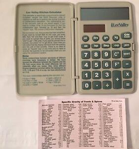 Lee Valley Kitchen Calculator