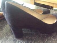 Ladies black court shoes size 5