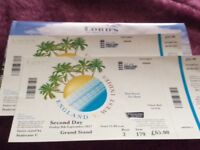 England Cricket Tickets x2 at Lords 2nd day Friday 8 th september