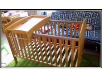 Beautiful Mamas and Papas Pine Cot Bed- VERY GOOD CONDITION!