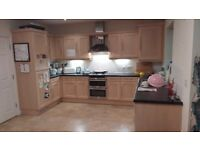 Fitted kitchen, Neff double oven/grill, extractor fan, integrated fridge/freezer