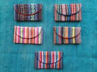 Colorful Handmade Wallets (fits all notes and passports!)