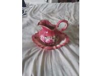 Staffordshire Iron Stone Jug and bowl
