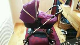 Silvercross Wayfarer Damson pushchair /pram /car seat