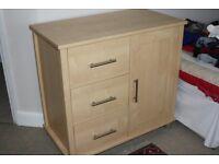Mamas and papas wardrobe, cabinet and free shelf