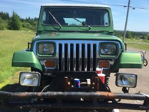 Jeep yj hood grill lights and fenders