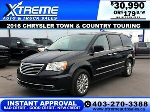 2016 Chrysler Town & Country Touring $179 b/w APPLY NOW DRI