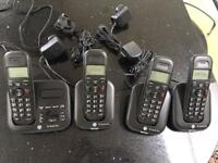 Wireless Phone with 4 handsets and answer machine