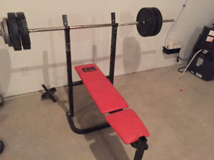 Workout Bench - With bar/weights