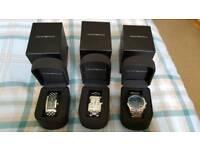 3 x Emporio Armani watches