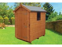 Mangham Apex Treated Timber Tongue & Groove Garden Shed 6ft x 4ft £299 Inc Delivery & Installation