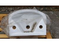 Sink 6 - Small white ceramic hand basin - for WC / Shop / Garage etc.