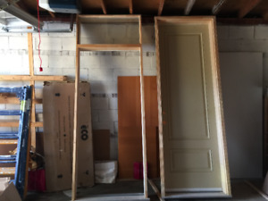 """30"""" 8 feet insulated door and 34"""" door firm with glass transom"""