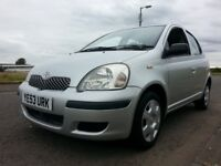 ★ FULL YEARS MOT ★ OCT 2003 Toyota Yaris 5dr 1.0 T3 ★ PART S. HIST ★ 3 Owners, Good cond'n like clio