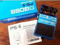 BOSS PS6 HARMONIST USED ONCE (BOXED)