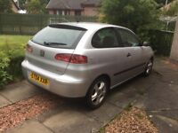 Seat Ibiza 04,low millage MOT till January, body got little rust with its age, drives perfect,3doors