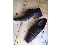 "Jones International Italy Made leather formal shoes size 44 narrow ""cherry"""