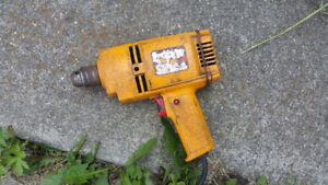 """Drill 3/8"""" yellow, corded. $15"""
