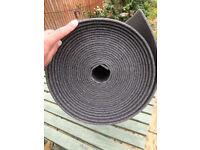 PU Foam underlay 2 x 12 metre rolls 1.25 metres wide x 6mm thick