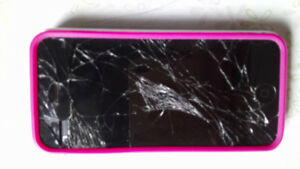 iPhone 5 cracked screen
