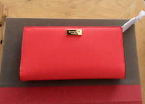 Kate Spade Newbury Lane Stacy Wallet in Geranium -NWT