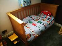 Mamas and Papas Adjustable Ocean Cot bed.
