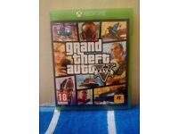 GTA 5 for Xbox one in mint condition no scratches