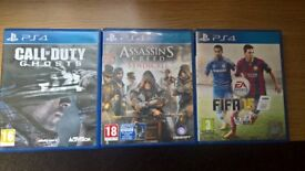 ps4 games assassins creed call of duty and fifa 15