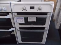 EX-DISPLAY WHITE HOTPOINT 60 CM WIDE COOKER W/INDUCTION TOUCH SCREEN HOB REF: 31206