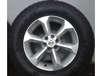 Nissan Navara Alloys. Brand new General all terrain tyres