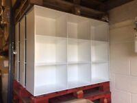 3x White Metal Shelving Storage Rack Shop Fitting Retail Display Stand Unit VGC