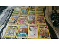 National geographic traveller magazines still sealed dated 2016 to 2017.