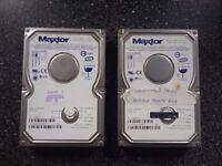 2 x 80 GB MAXTOR IDE PC HARD DRIVES