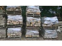 reclaimed limestone walling,ready for walling