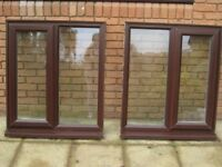 PAIR OF UPVC DOUBLE GLAZED WINDOWS + PAIR OF LINTELS