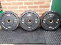Olympic Full Size Rubber Bumper Plates