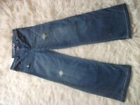 BRAND NEW GIRLS GAPKIDS INDIGO DITRESSED LOOK FLAIR JEANS - AGE 8 YEARS