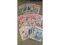 Poplular Patchwork magazines. Perfect condition. Feb 2014-Sept 2016 editions.