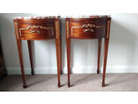 A pair of charming antique French bedside tables
