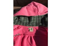 Element Girls Surfing Hoodie, Pink , with fleece Hood, Size 10